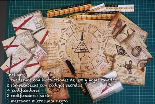 Coleccionistas Gravity Falls Con Códigos Y Cuaderno importado