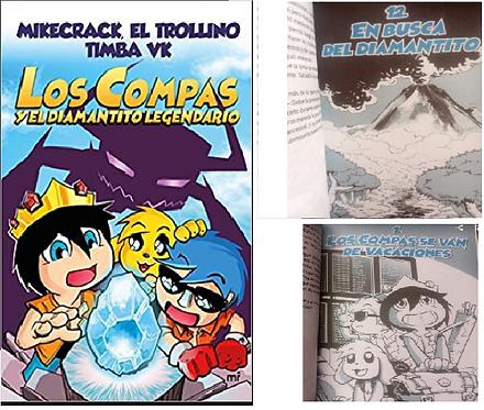 Los Compas y El Diamantito Legendario color  Libro  Mikecrack