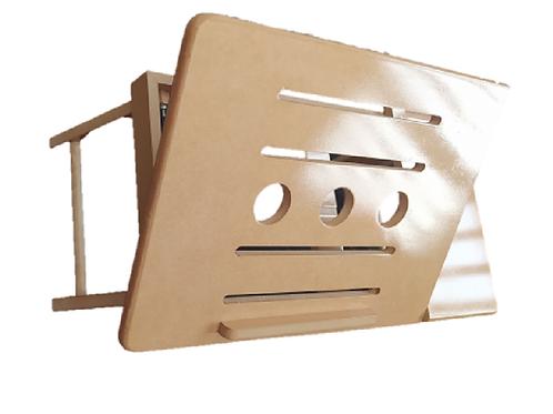 Mesa Lacada Para Portatil  Graduable Retractil 55 x 30 cm