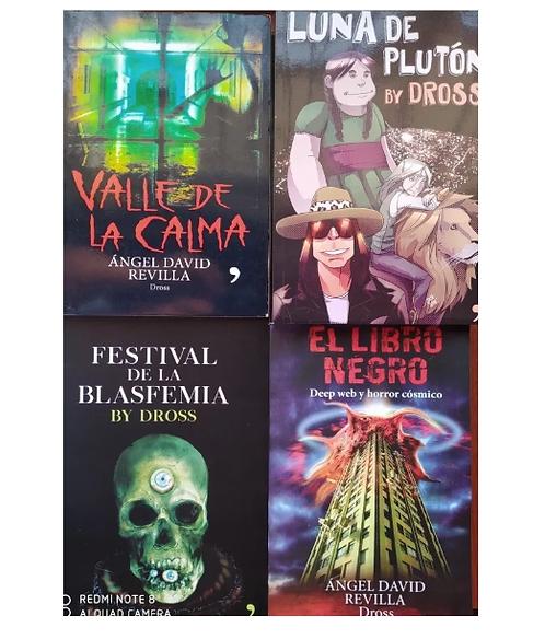 Coleccion Dross Angel D. Revilla festival +libro negro+luna de pluton +valle de