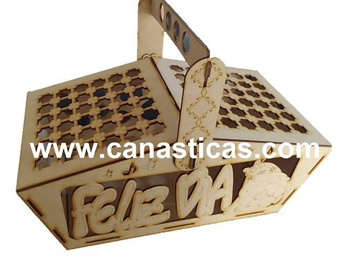 Canastas Picnic Madera MDF Delicada
