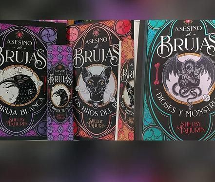 Trilogía Asesino de Brujas : Bruja Blanca + Hijos Del Rey + Dioses  y Monstruo