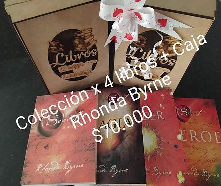 Colección Rhonda Byrne x 4 Libros + Caja Exclusiva