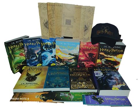 Nueva Colección Harry Potter x 10 Saga J.K. Rowling + cachucha+ Mapa Merodeador