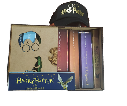 Caja  Coleccion Harry Potter x 8 Libros  J.K. Rowling + cachucha Exclusiva Harry