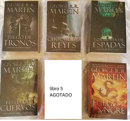 Colección juego de tronos X 5 Libros George RR Martin