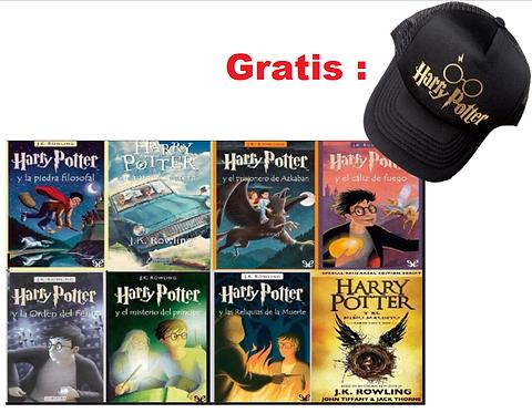 Colección Harry Potter x 8 LIBROS gratis cachucha harry potter
