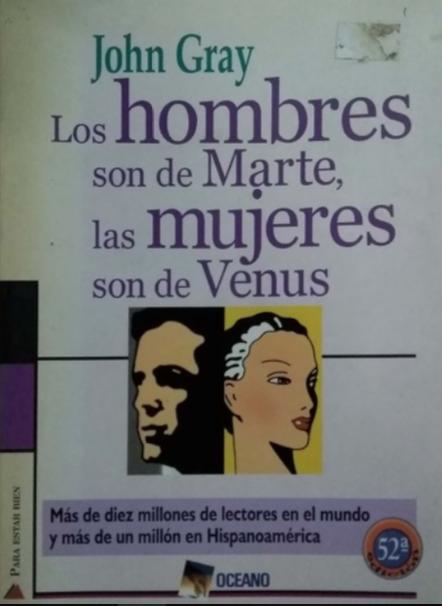 Los Hombre son de Marte y las Mujeres son de Venus