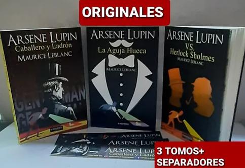 Colección Arsene Lupin (Aguja  +Caballero + Sholmes) Maurice Leblanc