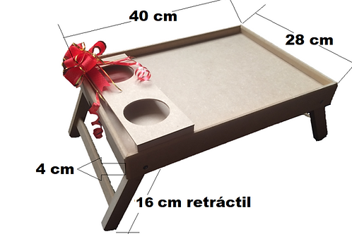 Mesa Desayuno Para Cama 40  x 28 cm GRATIS servilleta en tela