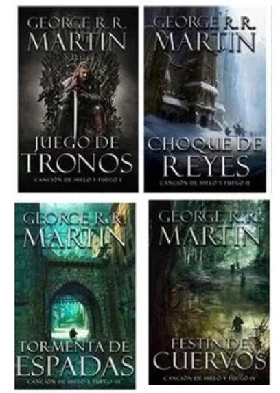 Colección juego de tronos / Cancion de hielo y fuego 4 Libros George RR M