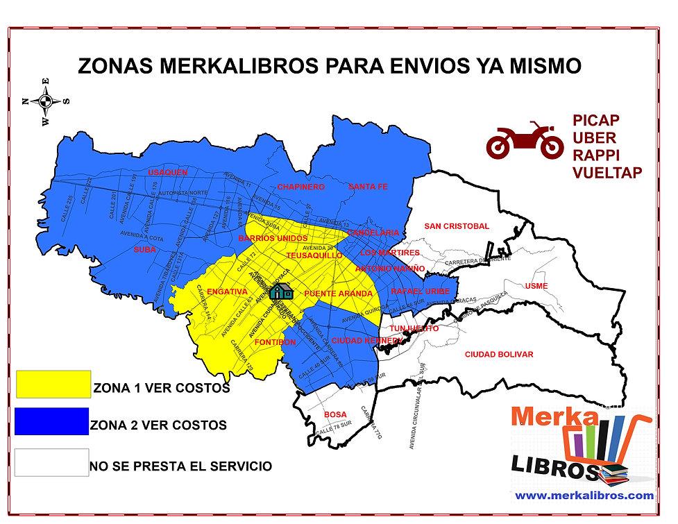 MAPA DE ZONAS MERKALIBROS MAPINFO