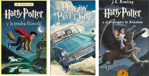 Trilogia Harry Potter x 3 primeros libros Saga J.K. Rowling