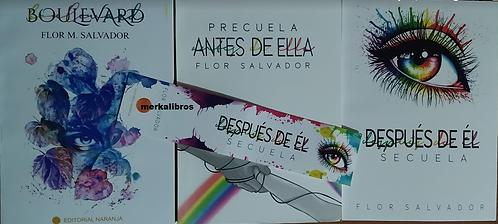 Trilogia Boulevard  + Antes De Ella + Despues De El Autor Flor M Salvador