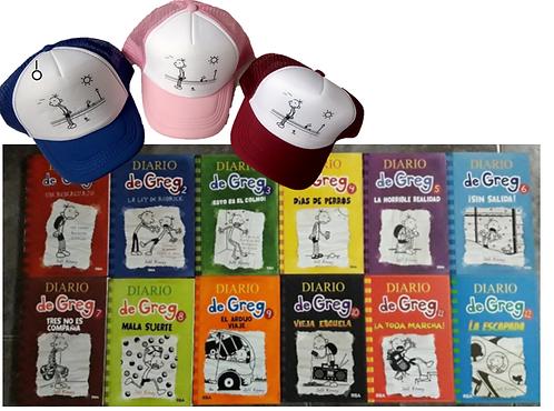 Colección Diarios de Greg x 12 + Una cachucha Saga Kinney