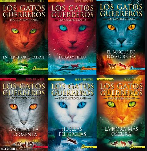 Colección Gatos Guerreros x 6 libros Los cuatro clanes