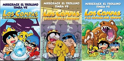 Colección Los Compas libros  1 - 2 - 3  Full Color Mikecrack