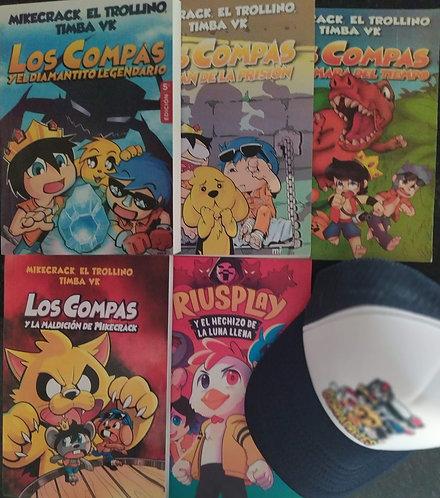 Coleccion  Compas  x 5 libros Blanco y Negro  Autor: Mikecrack Troillino Timba
