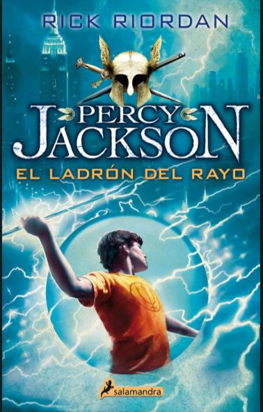 Percy Jackson El Ladron del Rayo Libro Rick Riordan