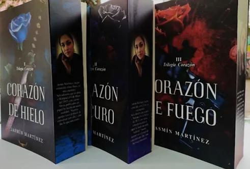 Trilogia Corazón De Hielo +Corazón Oscuro +Corazón De Fuego  Jasmin Martinez