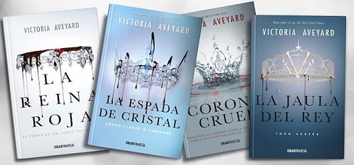 Colección Reina Roja x 4 libros Victoria Aveyard Espada - Corona - Jaula