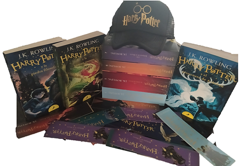 Colección Harry Potter Nuevo x 8  J.K. Rowling + Cachucha Harry Potter