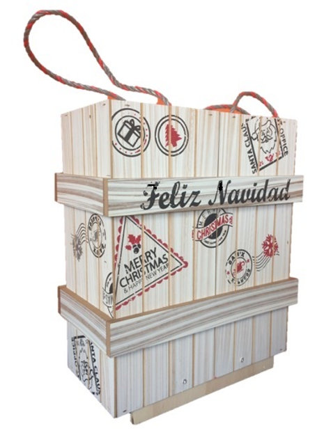 Caja Contenedor Navideño Extra Ref 6000