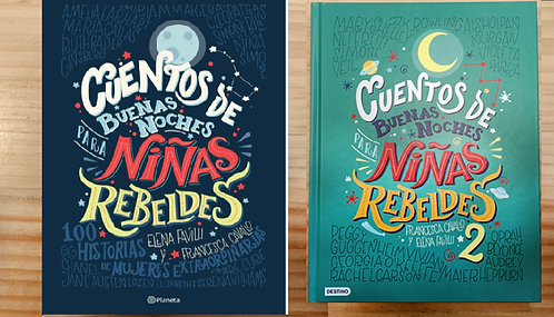 Cuentos Buenas Noches Niñas rebeldes 1 y 2 Libros Replica Color Alta calidad