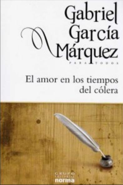 El Amor en los tiempos del Colera Libro Gabriel García Márquez