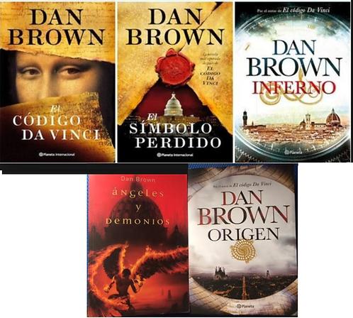 Colección x 5 libros Dan Brown + Envio