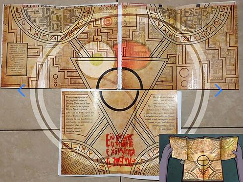 Coleccionistas Cuadernos x 3 Gravity Falls Con Mapa Portal codificado Importado