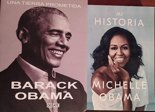Mi Historia y  Una Tierra Prometida Autor Barack Obama y Michelle Obama