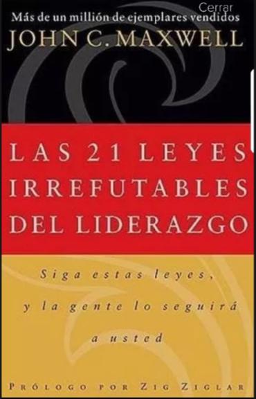 Las 21 leyes irrefutables del liderazgo  Libro John Maxwell