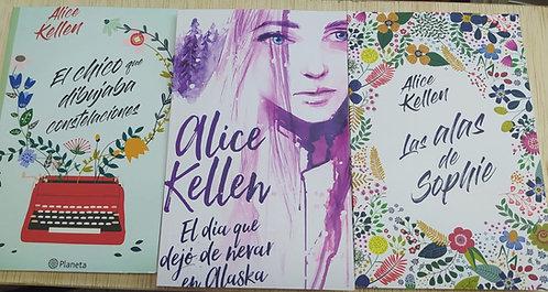 Alice Kellen : El Día Que dejó Nevar+ Alas De Sophie + Chico Que Dibujaba