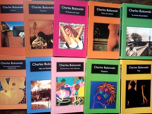 Colección x 10 libros Charles Bukowski