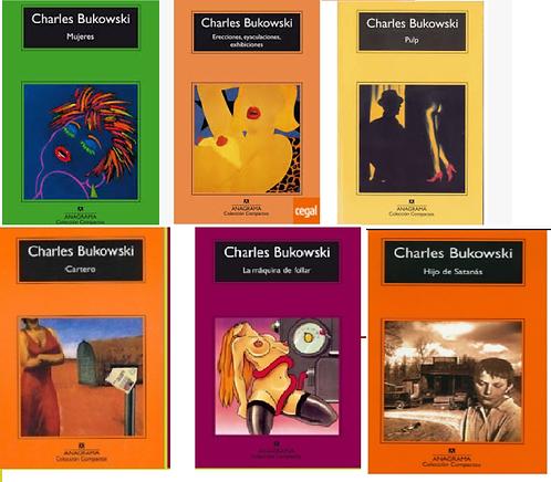 Coleccion x 6 libros Charles Bukowski