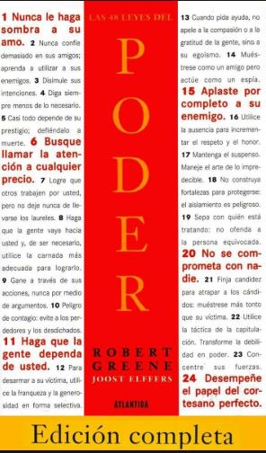 Las 48 leyes del poder Libro Robert Greenee Edición Completa grande