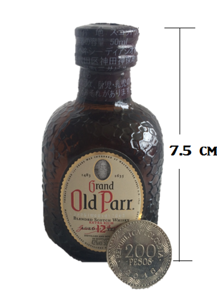 Whisky Old Parr 12 años De Colección 50 ml Ref 19091