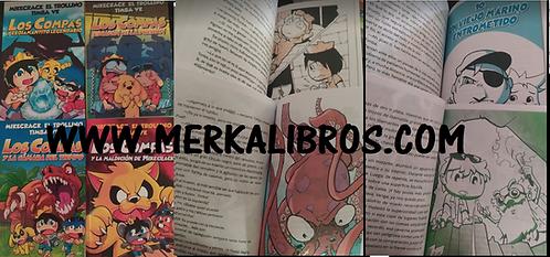 Los Compas  x 4 libros Coleccion a Full Color  + Gratis Cachucha Mikecrack