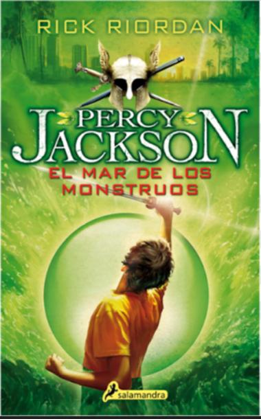 Percy Jackson El mar de los mostruos Libro Rick Riordan