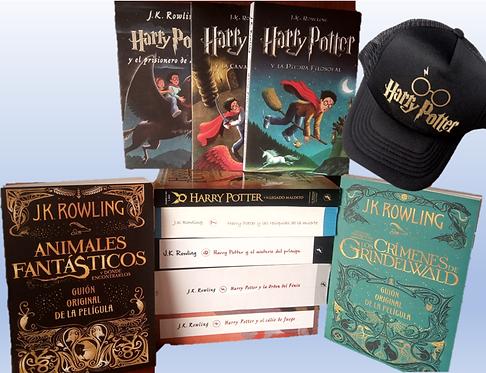 Colección Harry Potter x 10 Saga J.K. Rowling gratis cachucha Harry potter