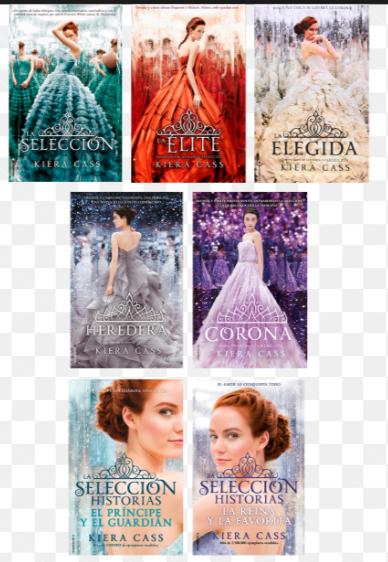 Colección Saga La Selección x 7 libros + Saga Kiera Cass Obsequio