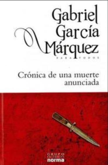 Crónica de una muerte Anunciada Libro Gabriel García Márquez