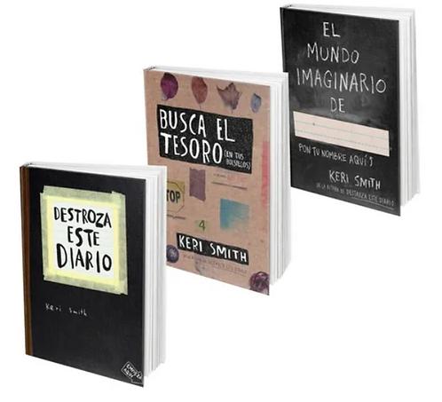 Mundo Imaginario +Destroza Este Diario + Busca Tesoro Libro Keri Smith