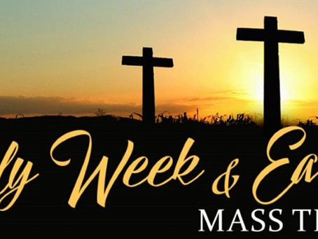 Updated: Holy Week Schedule, more confessions hours.