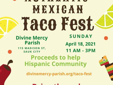Taco Fest, this Sunday!!!