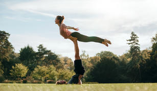 Outdoors Acroyoga Session