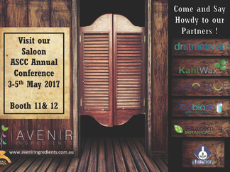 Visit our Saloon at the ASCC Annual Conference, 3-5 May - Booth 11 &12