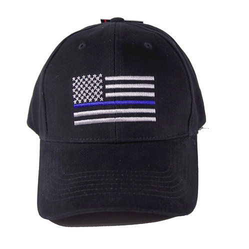Patriotic Blue Line Flag Cap