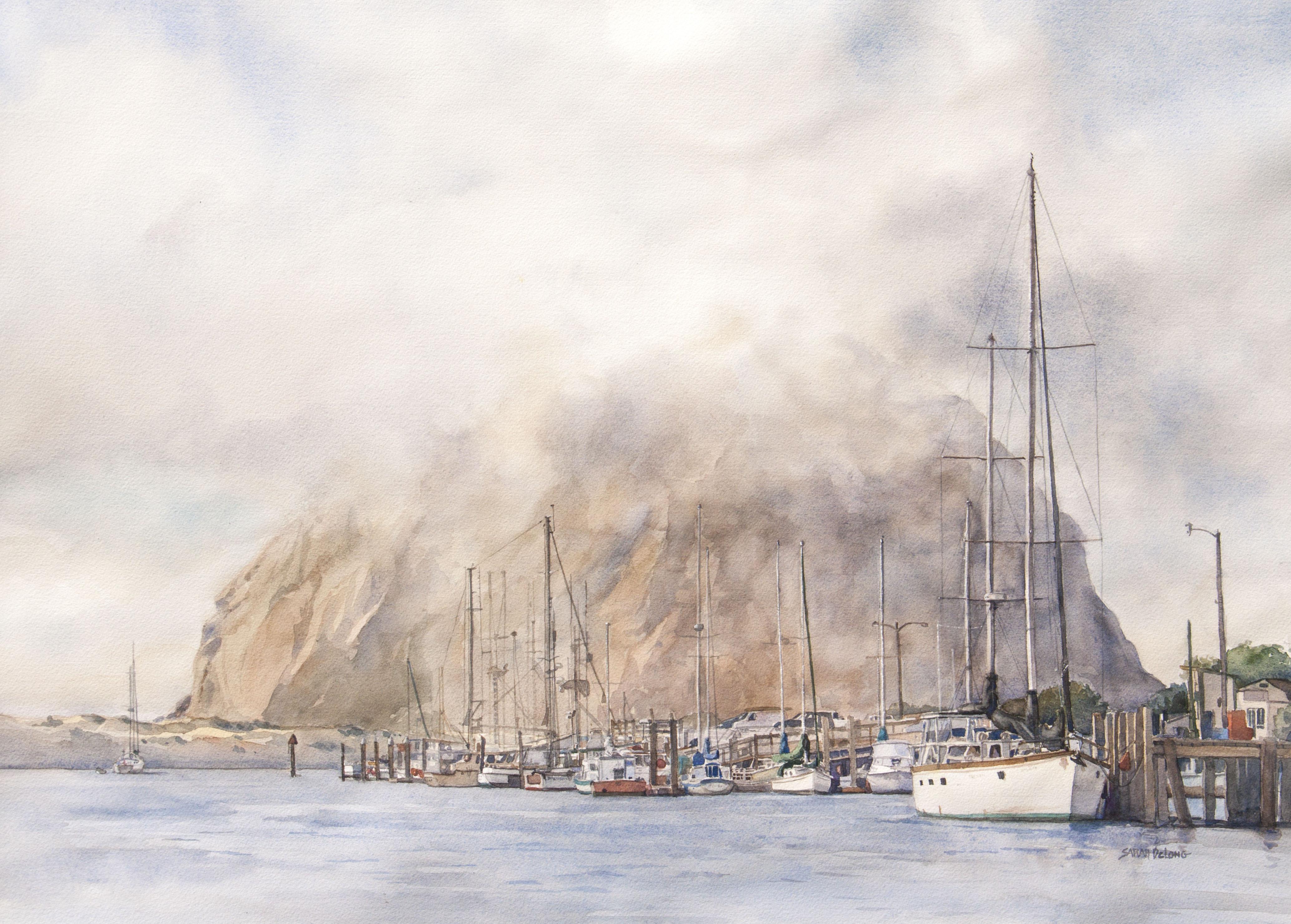 Morro Rock and Fog
